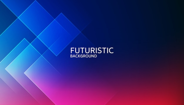 Futuristischer hintergrund der abstrakten blauen geometrischen form Premium Vektoren
