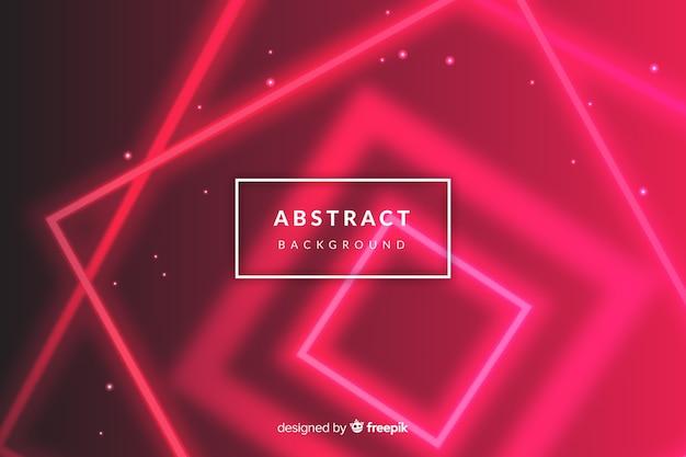 Futuristischer neonhintergrund der roten lichter Kostenlosen Vektoren