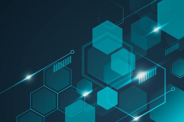 Futuristischer technologiehintergrund mit waben Premium Vektoren