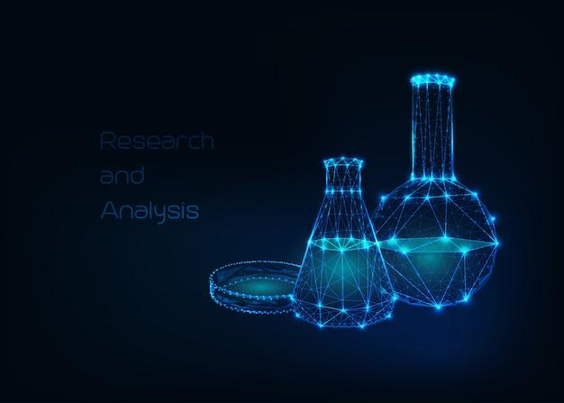 Futuristischer wissenschaftlicher hintergrund Premium Vektoren