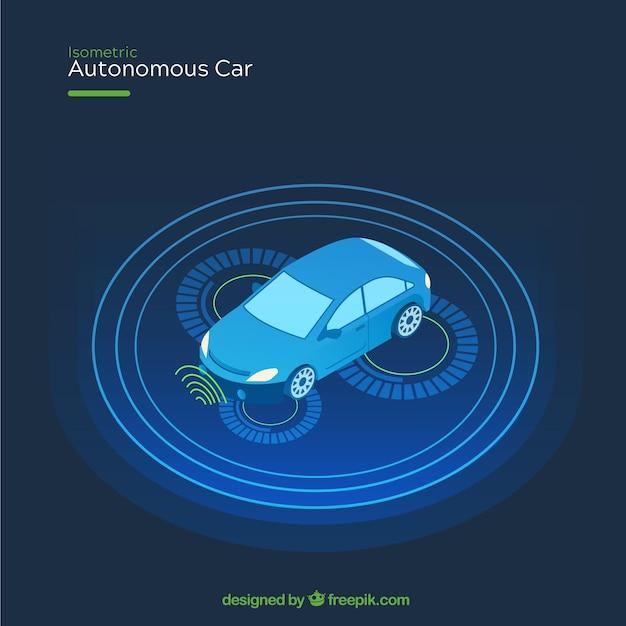 Futuristisches autonomes auto mit flachem design Kostenlosen Vektoren