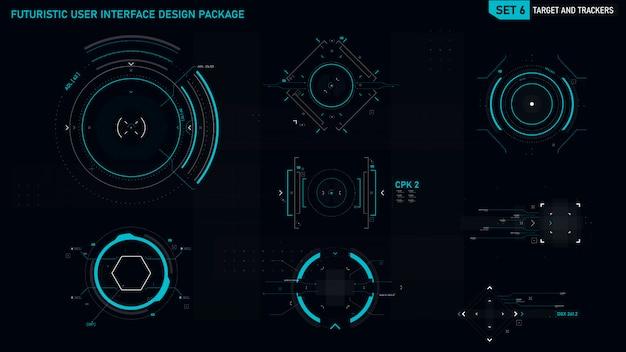 Futuristisches benutzeroberflächenelement Premium Vektoren