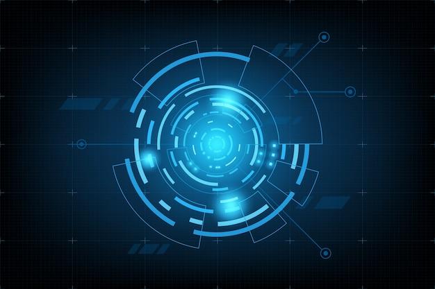 Futuristisches element panel.world kartendaten analyse informationen Premium Vektoren