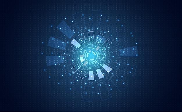 Futuristisches konzept kreis digitale programm kommunikation Premium Vektoren