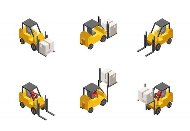 Gabelstapler-set Kostenlosen Vektoren