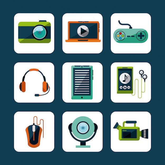 Gadget-tech-design Premium Vektoren