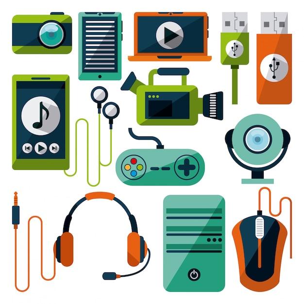Gadgets tech Premium Vektoren