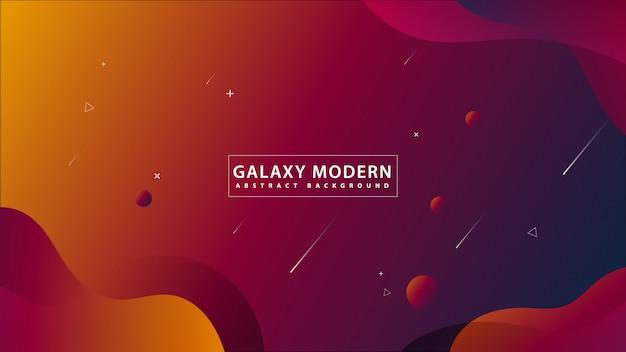 Galaxie-moderner abstrakter hintergrund Premium Vektoren