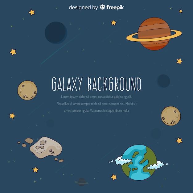 Galaxy-hintergrund-konzept Kostenlosen Vektoren