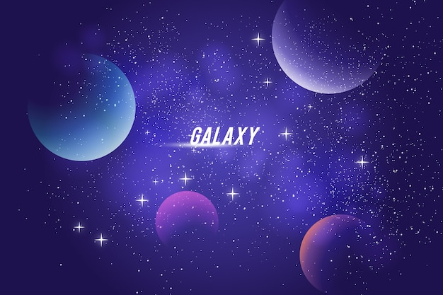Galaxy hintergrunddesign Kostenlosen Vektoren