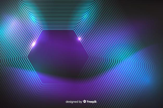 Galaxy neon linien abstrakten hintergrund Kostenlosen Vektoren