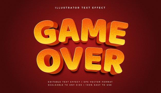 Game over text style schrift-effekt Premium Vektoren