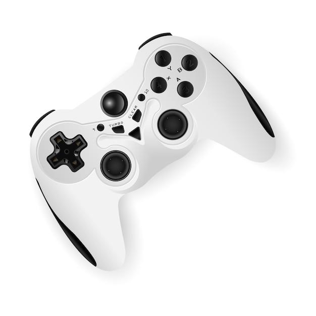 Gamepad-modell-vektorillustration. spiel-joystick Premium Vektoren