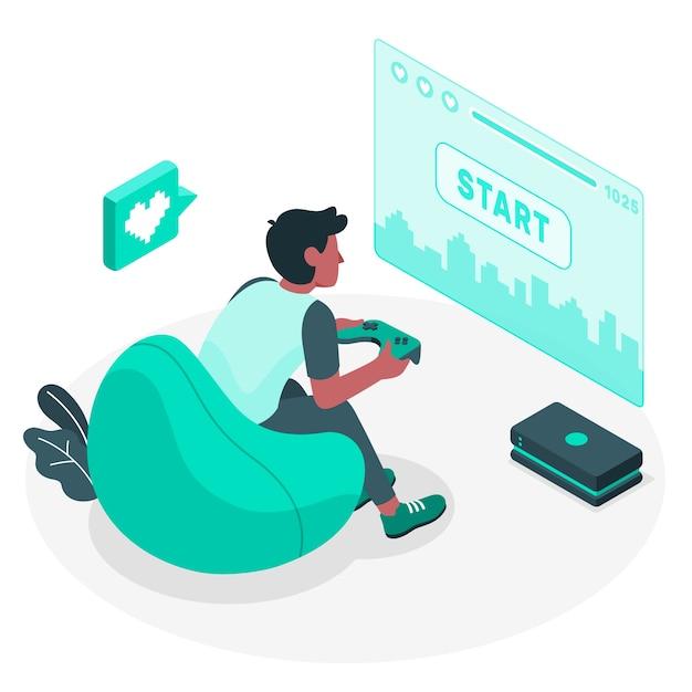 Gaming-konzept illustration Kostenlosen Vektoren