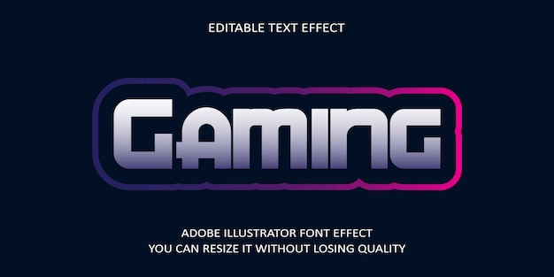 Gaming-text-font-effekt Premium Vektoren