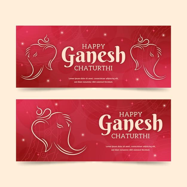 Ganesh chaturthi banner vorlage Kostenlosen Vektoren
