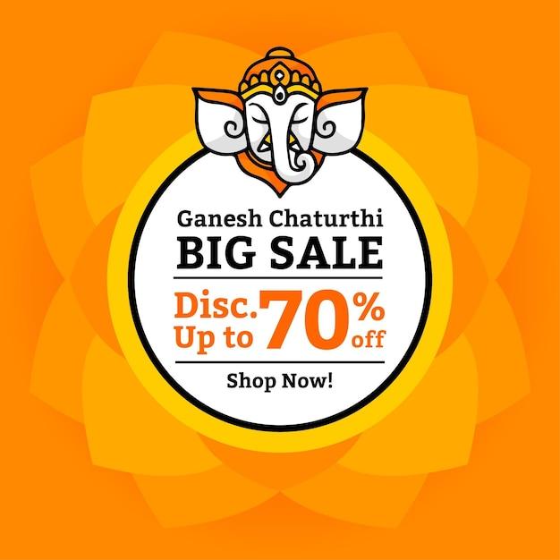 Ganesh chaturthi verkäufe Kostenlosen Vektoren