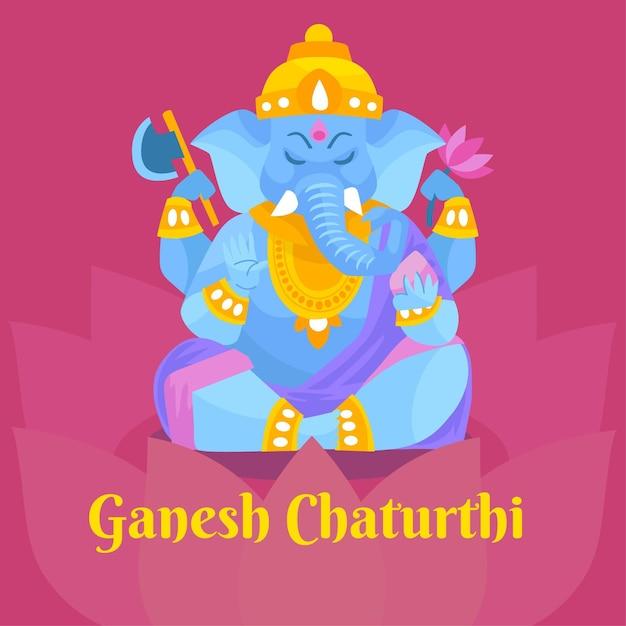Ganesh chaturthi ziehen Kostenlosen Vektoren