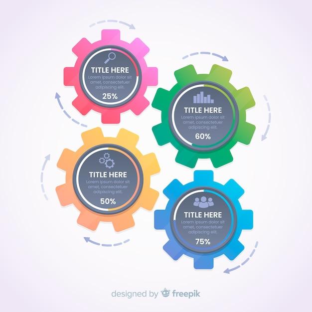Gang infografik Kostenlosen Vektoren