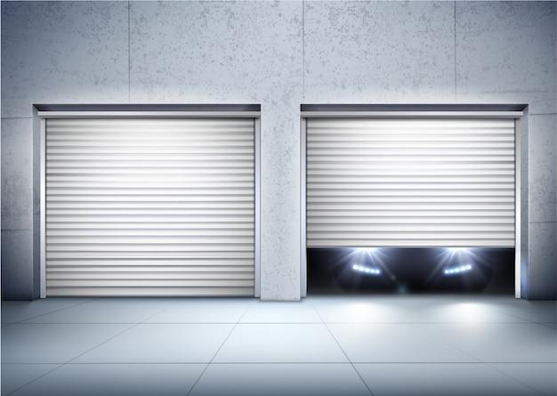 Garage realistischen hintergrund Kostenlosen Vektoren