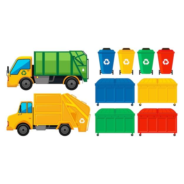 Garbage-elemente-sammlung Kostenlosen Vektoren
