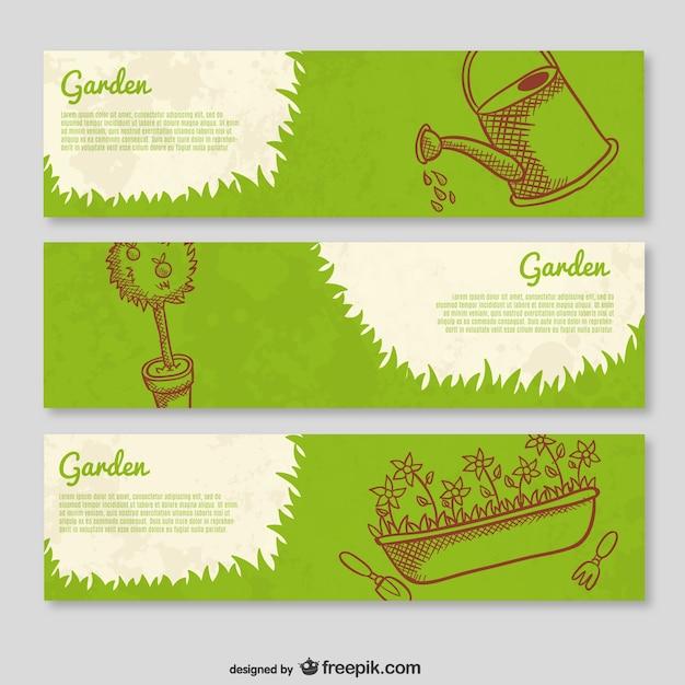 Garten banner vorlagen download der kostenlosen vektor for Imagenes de jardineria gratis