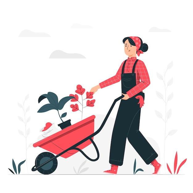 Gartenkonzeptillustration Kostenlosen Vektoren