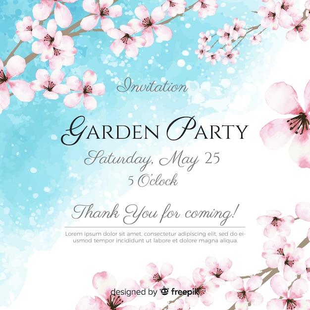Gartenparty-flyer Kostenlosen Vektoren