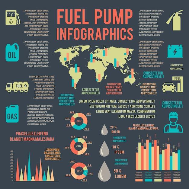 Gas infografiken Kostenlosen Vektoren
