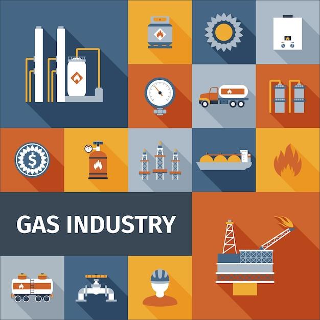 Gas-symbol flach Kostenlosen Vektoren