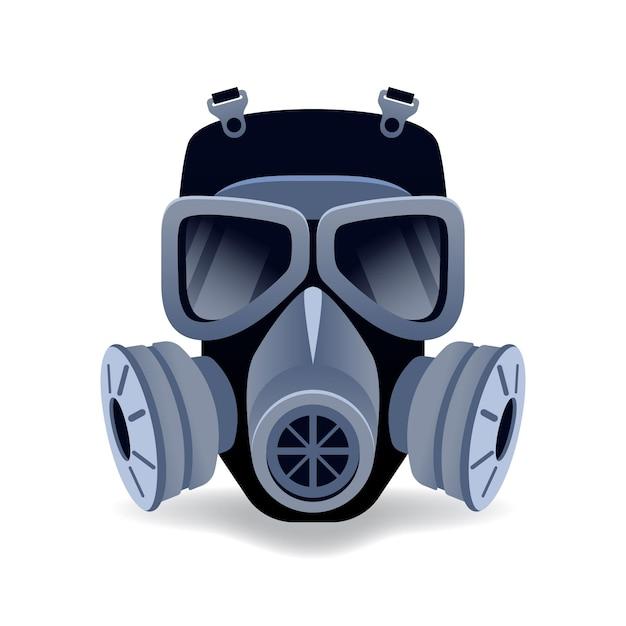 Gasmasken-atemschutzgerät dargestellt Premium Vektoren