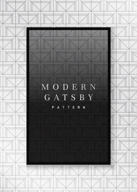 Gatsby gemusterter rahmen Kostenlosen Vektoren