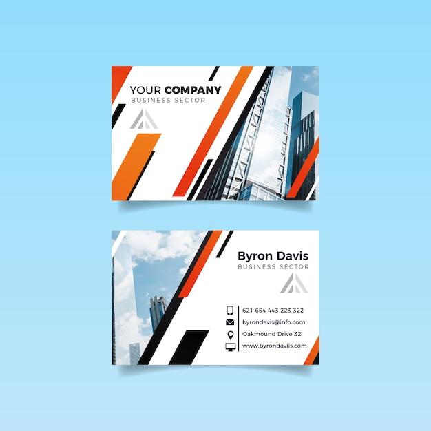 Gebäude und himmelsdesign für visitenkarte Kostenlosen Vektoren
