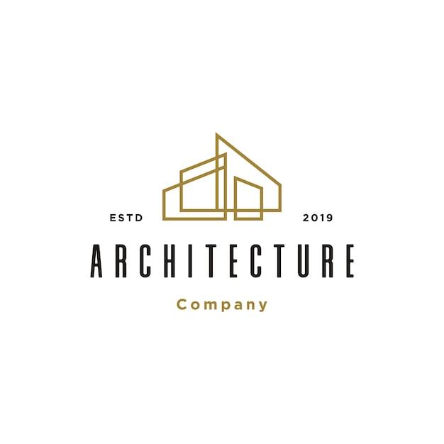 Gebäudearchitektur logo vorlage Premium Vektoren