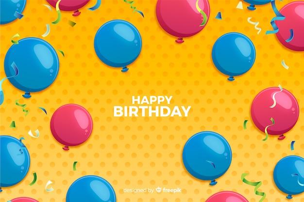 Geburtstag ballons hintergrund Kostenlosen Vektoren