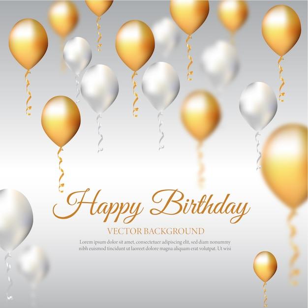 Geburtstags-einladungskarte mit ballonen Premium Vektoren