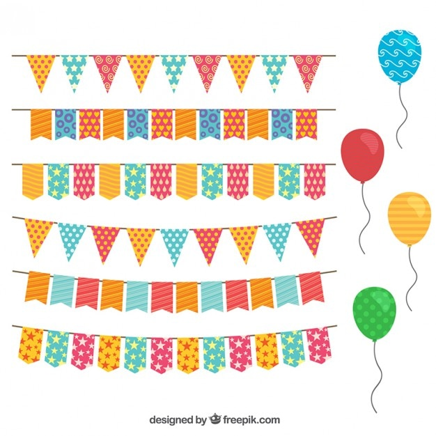 Geburtstagsdekoration mit ammern und luftballons Geburtstagsdekoration