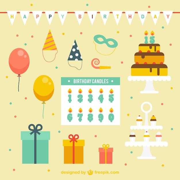 Geburtstagsdekoration download der kostenlosen vektor for Geburtstagsdekoration