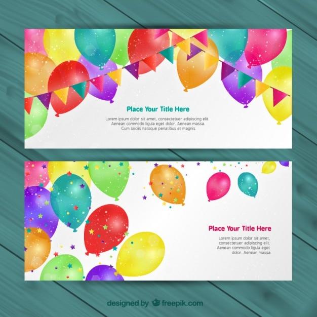 Geburtstagseinladungen Download Der Kostenlosen Vektor