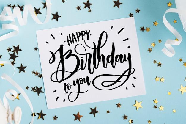 Geburtstagsfeierkonzept für die beschriftung Kostenlosen Vektoren