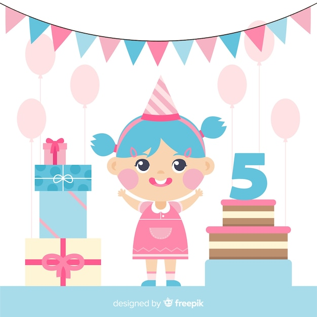Geburtstagskind Kostenlosen Vektoren