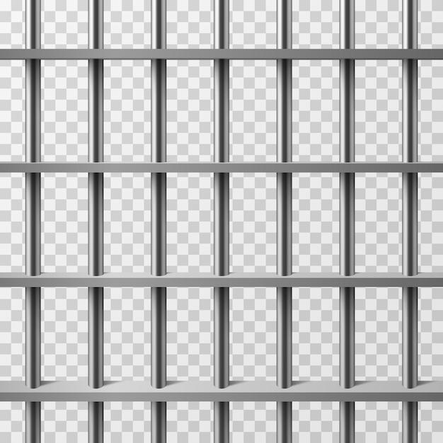 Gefängniszellenstäbe isoliert. prison vector hintergrund Premium Vektoren