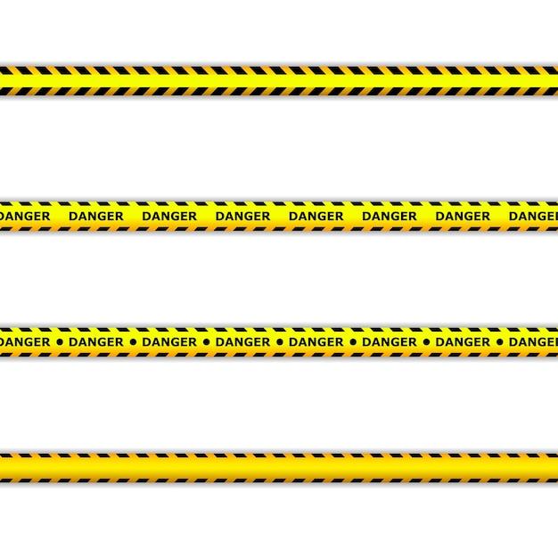 Gefahrenbänder. warnbänder. polizeilinie und nicht überqueren. barrikadenband. Premium Vektoren