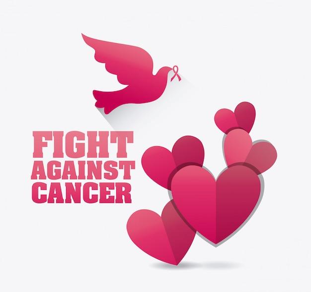 Gegen brustkrebs-kampagne Premium Vektoren