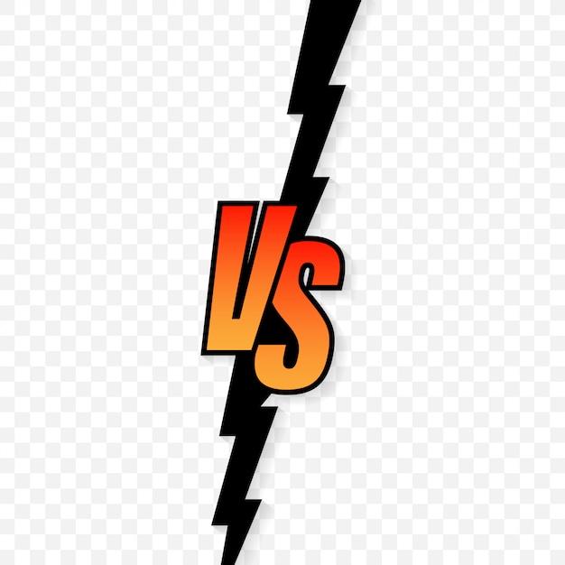 Gegen logo gegen buchstaben für sport und kampfwettbewerb Premium Vektoren