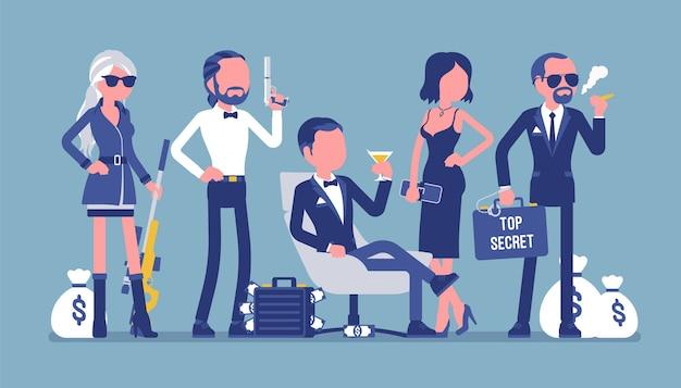 Geheimdienstteam Premium Vektoren