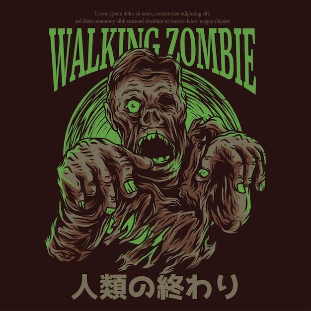 Gehender zombie Premium Vektoren