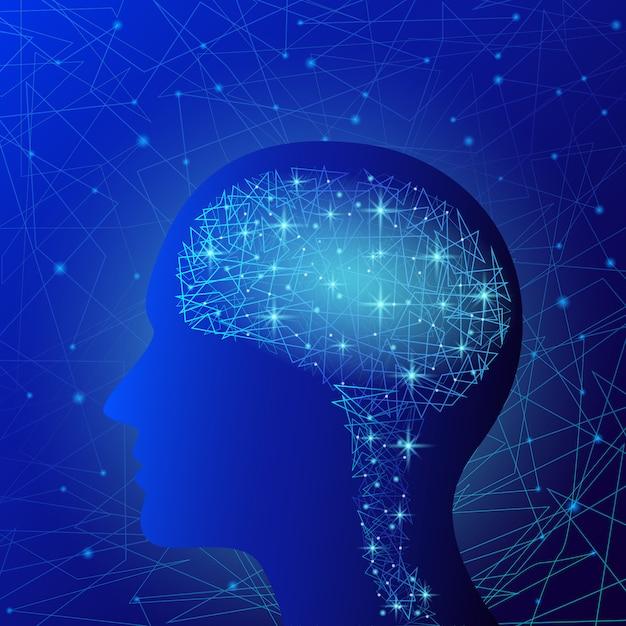Gehirn-konzept Premium Vektoren
