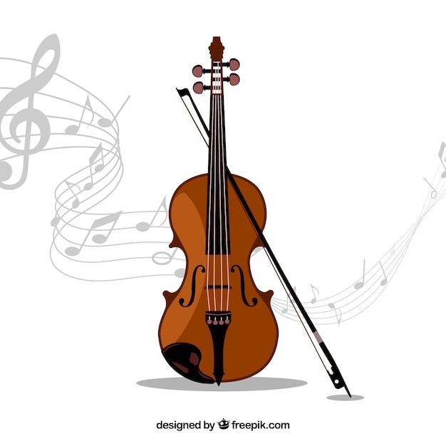 Geige musikinstrument Kostenlosen Vektoren