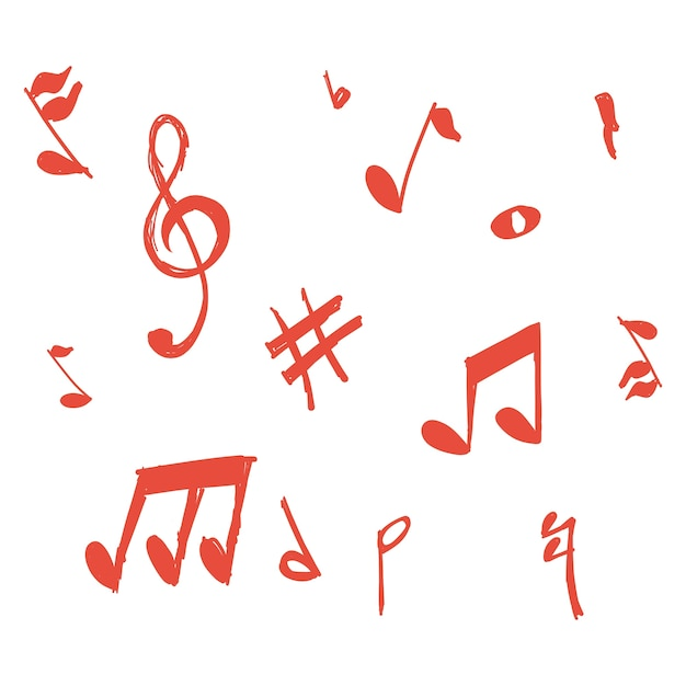 Gekritzel musik noten vektor Kostenlosen Vektoren
